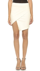 Mason By Michelle Mason Asymmetrical Wrap Skirt Ivory
