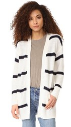 Cupcakes And Cashmere Ridley Stripe Cardigan Ivory