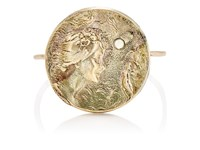 Julie Wolfe Women's Coin Wire Ring Gold