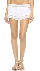 Eberjey Love Shack Aster Shorts White