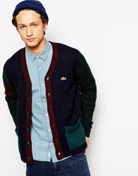 Lacoste Live Contrast Pocket Cardigan Navy