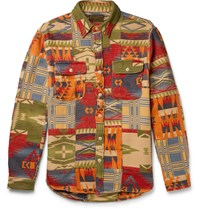 Rrl Matlock Cotton Jacquard Shirt Jacket Multi