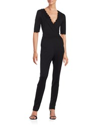French Connection Scalloped Trim Jumpsuit Black