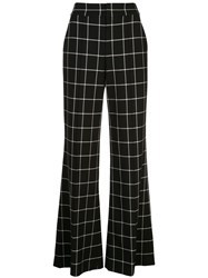 Alice Olivia Dylan Check Wide Leg Trousers 60