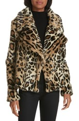 Milly Cole Faux Fur Cheetah Jacket
