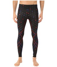 Cw X Stabilyx Tights Print Black Star Print Red Blue Men's Workout