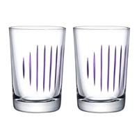 Nude Parrot Water Glasses Set Of 2 Clear Purple