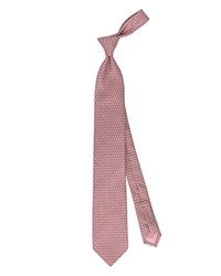 Thomas Pink Lisbet Geo Woven Classic Tie Pink White