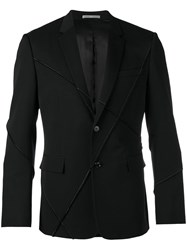 Christian Dior Homme Ribbed Detail Casual Blazer Black