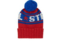 The Elder Statesman X Nba Men's All Star Cashmere Pom Pom Beanie Red