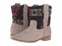 Toms Laurel Boot Desert Taupe Suede Tribal Wool Women's Pull On Boots