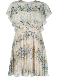 Red Valentino Floral Print Pleated Dress 60