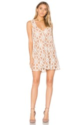 For Love And Lemons Metz Mini Dress Tan