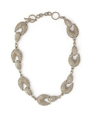 Jil Sander Bubbled Chain Link Necklace Silver