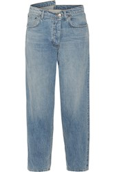 Monse Asymmetric Mid Rise Tapered Jeans Mid Denim