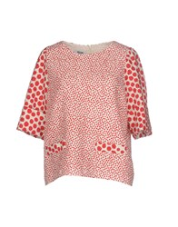 Moschino Cheap And Chic Shirts Blouses Red