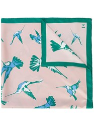 Carolina Herrera Bird Print Scarf Nude And Neutrals