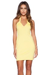 Oh My Love Halter Bodycon Dress Yellow