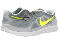 Nike Free Rn 2 Cool Grey Volt Wolf Grey Ghost Green Men's Running Shoes Blue