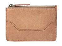 Frye Melissa Key Card Dusty Rose Antique Pull Up Credit Card Wallet Mahogany