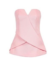 Finders Keepers Inbetween Days Draped Bustier Pink