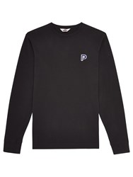 Penfield Plano Embroidered Patch Long Sleeve T Shirt Black