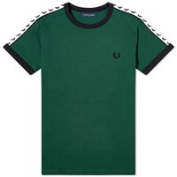 Fred Perry Authentic Taped Ringer Tee Green