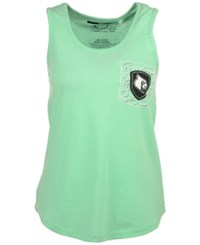 Royce Apparel Inc Women's Louisville Cardinals Anchor Flourish Pigment Tank Island Green
