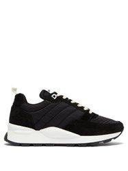Ami Alexandre Mattiussi Quilted Shell And Suede Trainers Black