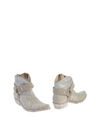 Materia Prima By Goffredo Fantini Ankle Boots Ivory