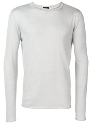 Giorgio Armani Knitted Sweatshirt Grey