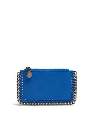 Stella Mccartney Falabella Faux Suede Coin Purse And Cardholder Blue