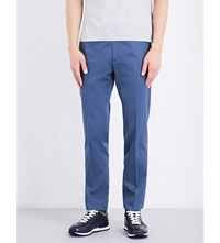 Gieves And Hawkes Slim Fit Tapered Wool Chinos Bright Blue