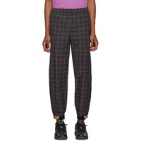 Wonders Black Camp Grid Track Pants