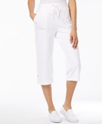 Karen Scott Petite Drawstring Capri Pants Only At Macy's Bright White