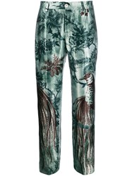 F.R.S For Restless Sleepers Straight Leg Printed Trousers Green