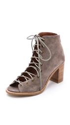 Jeffrey Campbell Cors Suede Booties Taupe