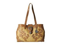 American West Shady Cove Shopper Tote Honey Golden Tan Tote Handbags Brown