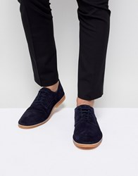 Selected Homme Suede Derby Shoes Dark Navy