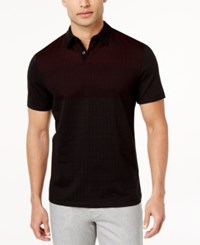 Alfani Men's Mercerized Cotton Polo Only At Macy's Red Velvet
