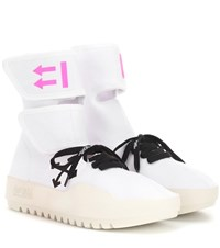 Off White Cst 001 High Top Sneakers White