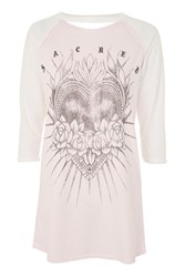 Topshop Sacred Heart Tunic Pale Pink