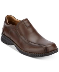 Dockers Agent Leather Loafers Shoes Dark Tan