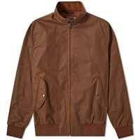 Fred Perry Reissues Made In England Waxed Harrington Jacket Brown