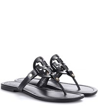 Tory Burch Miller Leather Sandals Black