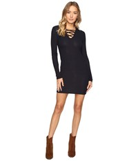 Culture Phit Lahela Lace Up Sweater Dress Dark Night Women's Dress Navy