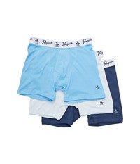 Original Penguin 100 Cotton 3 Pack Boxer Brief Ballad Blue Pack Men's Underwear Multi