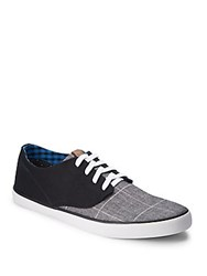 Ben Sherman Lace Up Sneakers Windowpane Plaid