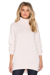 Nicholas Angora Oversized Turtleneck Sweater Pink