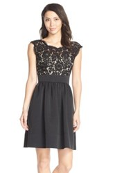 Eliza J Lace And Faille Dress Petite Black